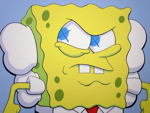 kaws x spongebob squarepants