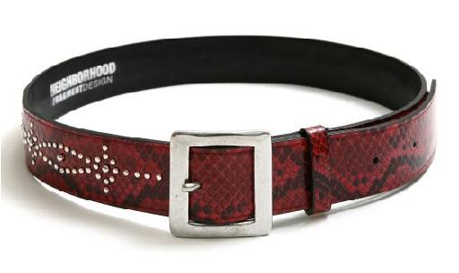 neighborhood x fragment design snake pattern belt