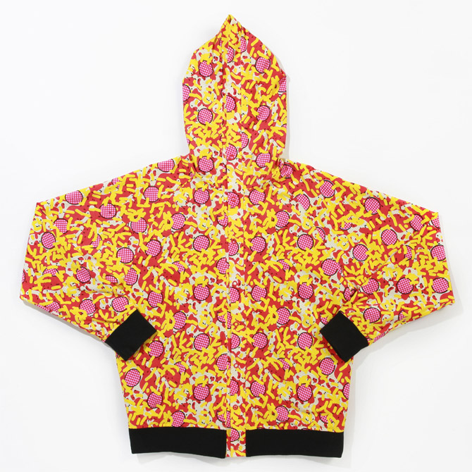 pam x clot pizza party hoodie