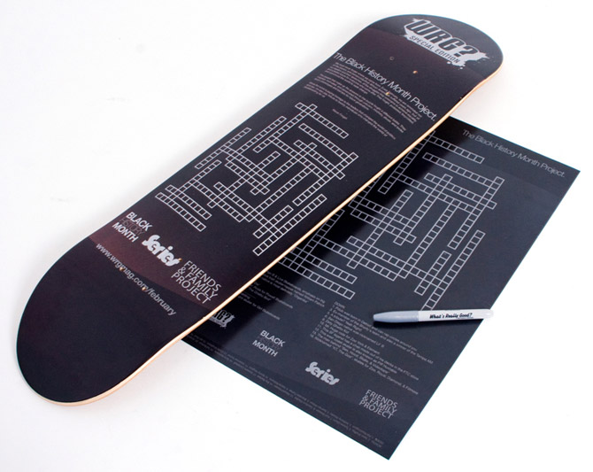 wrg x series skateboards black history month deck