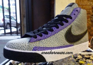 DQM x Nike Blazer High Grey/Purple