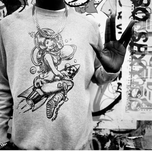 rockin jelly bean x bbc crewneck sweater