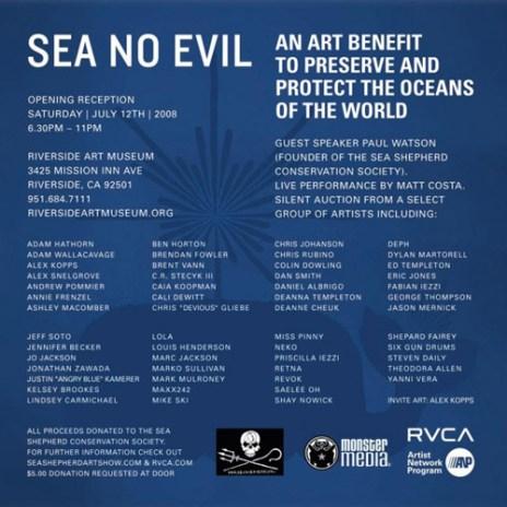 Sea No Evil Art Show