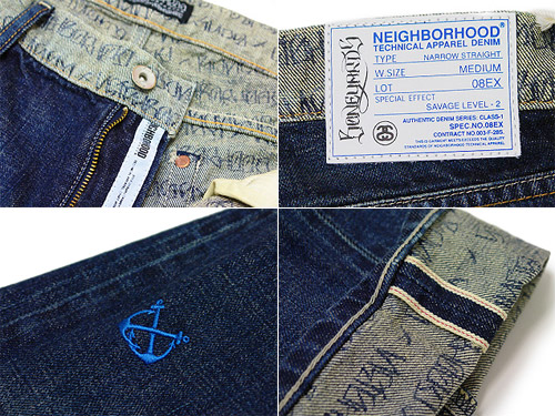 Stussy x Neighborhood Boneyards Washed Narrow Denim