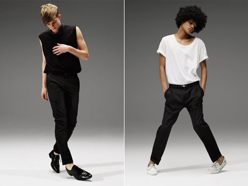 Topman's Black Trouser Project 2008 Fall Collection