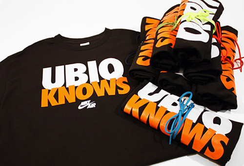 ubiq x nike knows t shirt