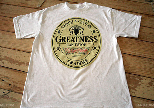 "5&A Dime x Crooks & Castles ""The Greatness"" T-shirt"