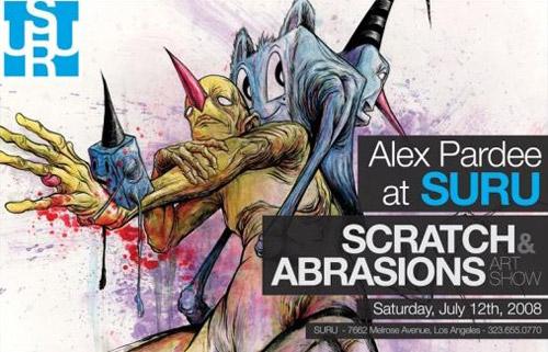 "Alex Pardee ""Scratches & Abrasions"" Exhibition"