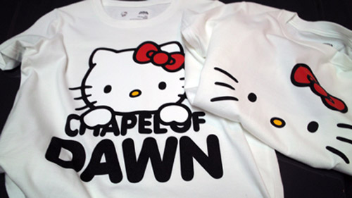 chapel of dawn x hello kitty black wonder exhibition