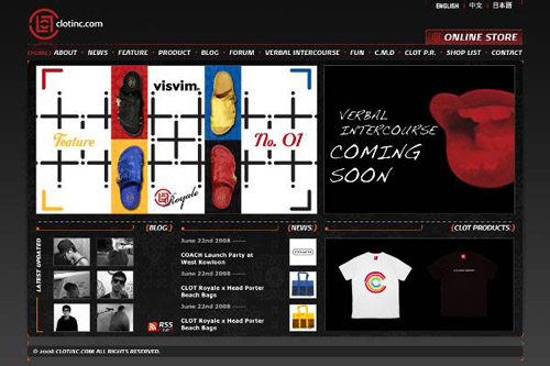 CLOT Website Relaunch & Online Exclusive Items