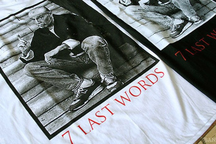 """George Carlin x Manik Skateboards """"7 Last Words"""" Tee"""
