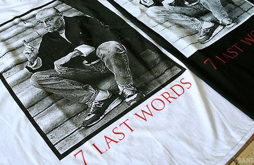george carlin x manik skateboards 7 last words tee