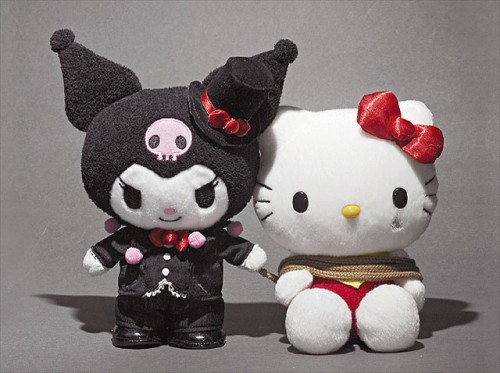 Kuromi captures Hello Kitty