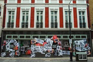Jamie Reid Window Display for Dover Street Market