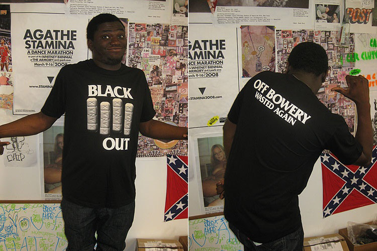 Off Bowery Black Out & Julian Tee