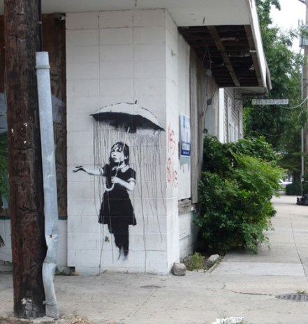 Banksy visits New Orleans