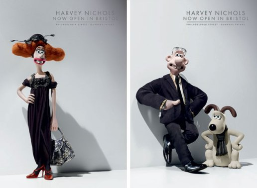 Wallace and Gromit for Harvey Nichols
