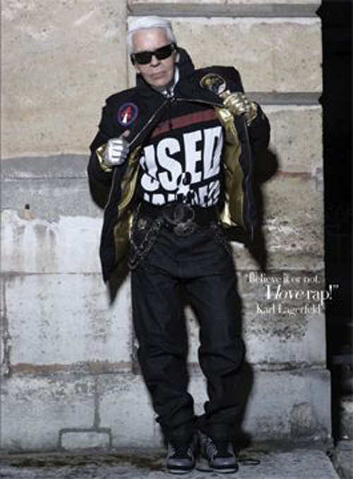 Karl Lagerfeld the Rapper