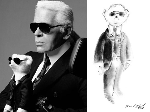 Karl Lagerfield for Steiff Plush Toys