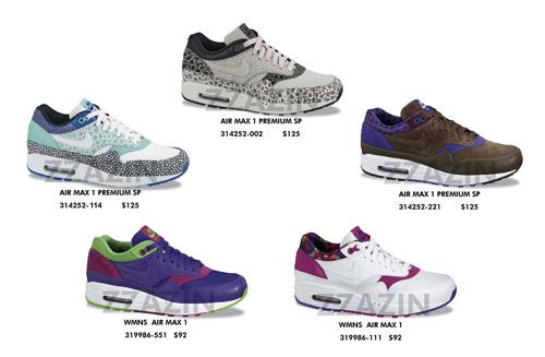 Nike Air Max 1 Premium 2009 Releases