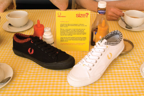 Size? x Fred Perry Gingham Sneakers