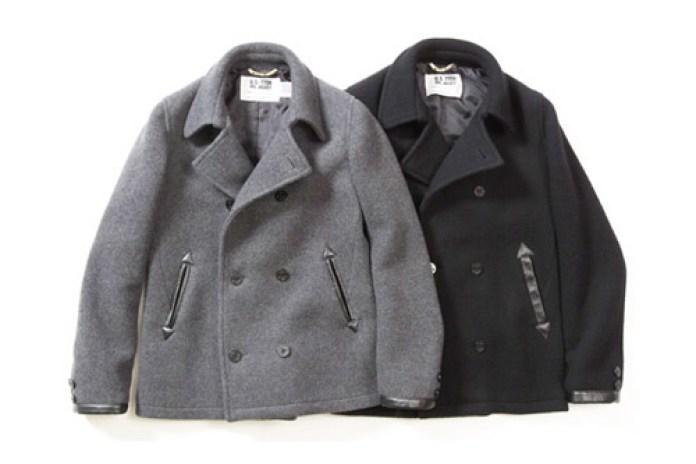 Victim x Schott Wool Pea Coat