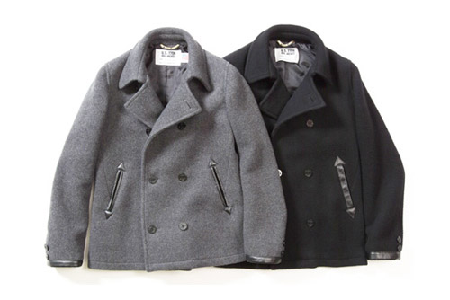 Victim x Schott Wool Pea Coat