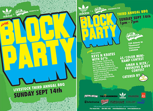 Livestock & adidas Presents Live Block Party
