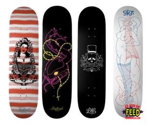 Artsprojekt: Lovewright Skateboard Decks