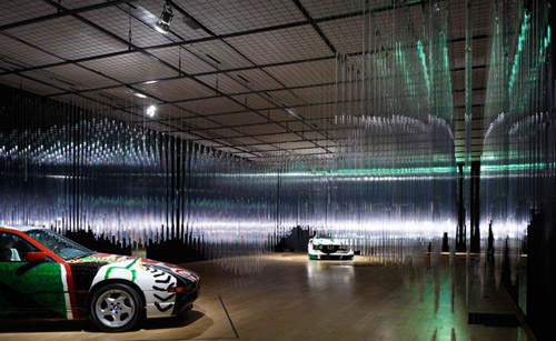 bmw art car exhibition transparent speed