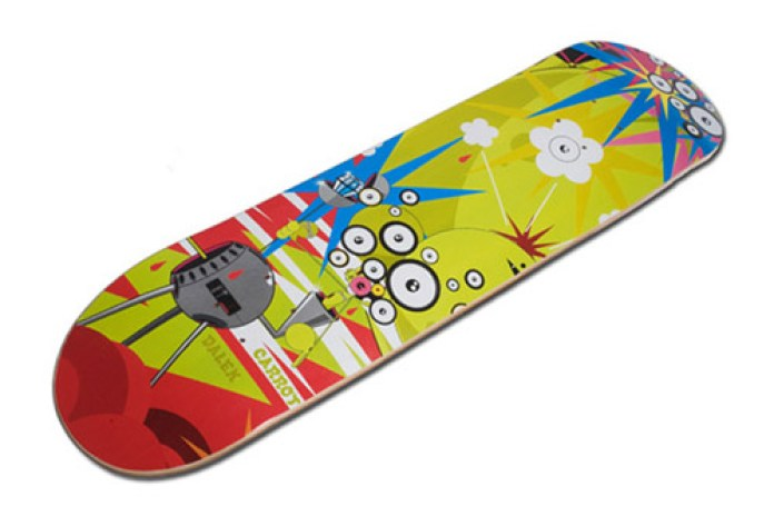 Carrot Clothing x Dalek Skate Deck