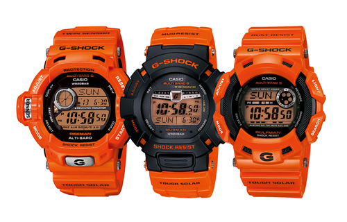 "Casio G-Shock ""Men in Rescue Orange"" Pack"