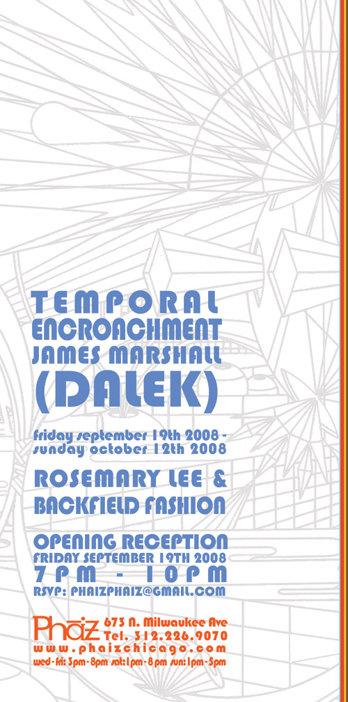 "James Marshall (Dalek) - ""Temporal Encroachment"" Exhibition"