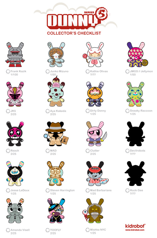 Kidrobot Dunny Series 5 Preview