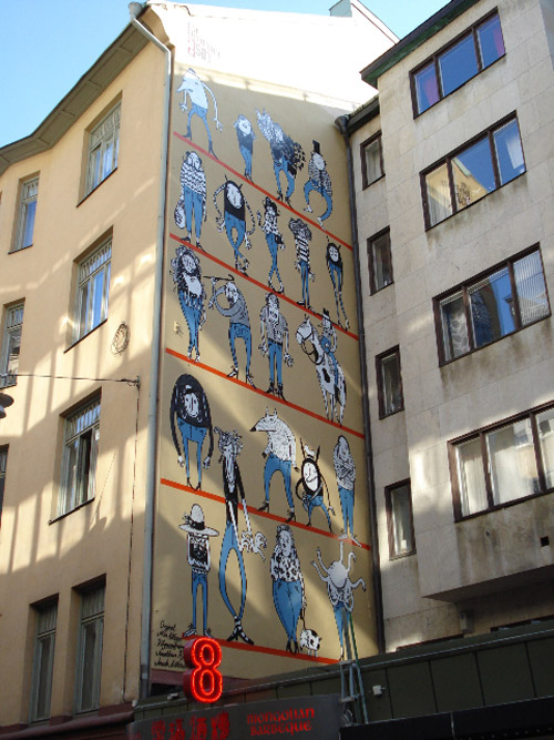 "Mia Nilsson   Levi's 501 ""Live Unbuttoned"" Art Wall"
