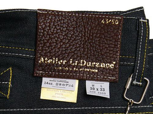 oki-ni x Atelier La Durance Royston Broken Twill 12.5oz Selvedge Slim Jean