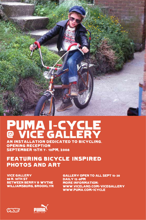 PUMA presents: I-Cycle Space at Vice Gallery