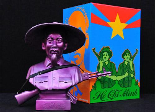 Frank Kozik Ho Chi Minh Purple Bust