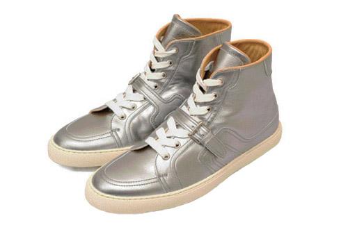 Hermès Metallic Hi-Top Sneakers
