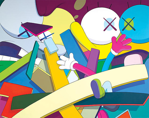 KAWS Exhibition at the Gering & López Gallery