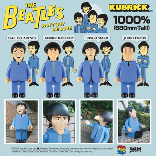 "Medicom Toys Kubrick 1000% The Beatles ""Can't Buy Me Love"""