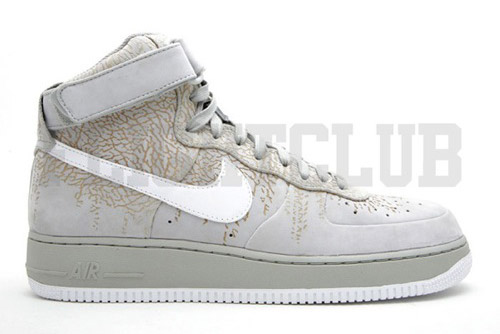 Nike Air Force 1 High Grey Cement Print