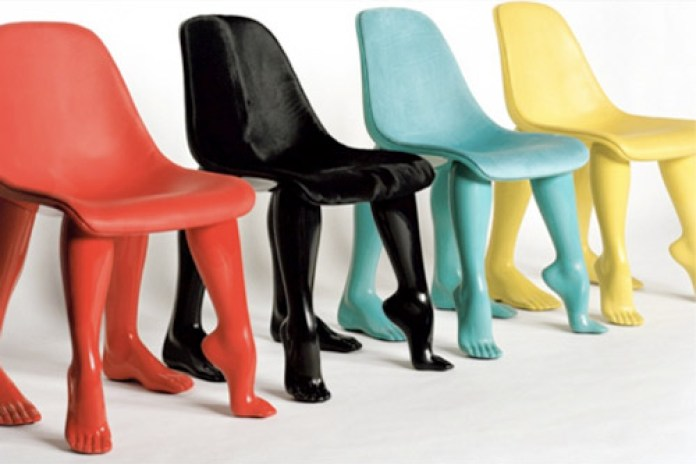 Pharrell's Perspective Chairs at Gallerie Emmanuel Perrotin