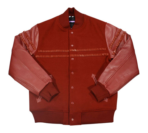 swagger Studded Wool Stadium Jacket