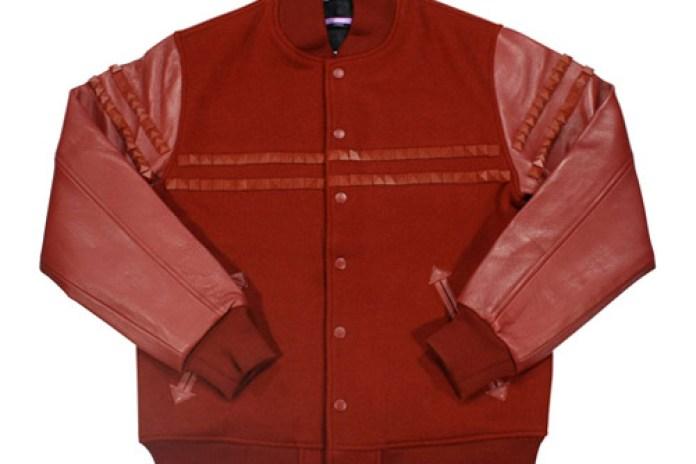 swagger Studded Wool Stadium Jacket