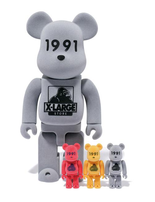 "XLARGE x Medicom Toy 400% & 100% ""1991"" Bearbricks"