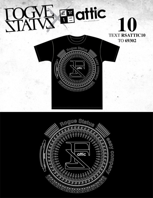 "Attic x Rogue Status ""RS Black Friday"" T-shirt Contest Voting"