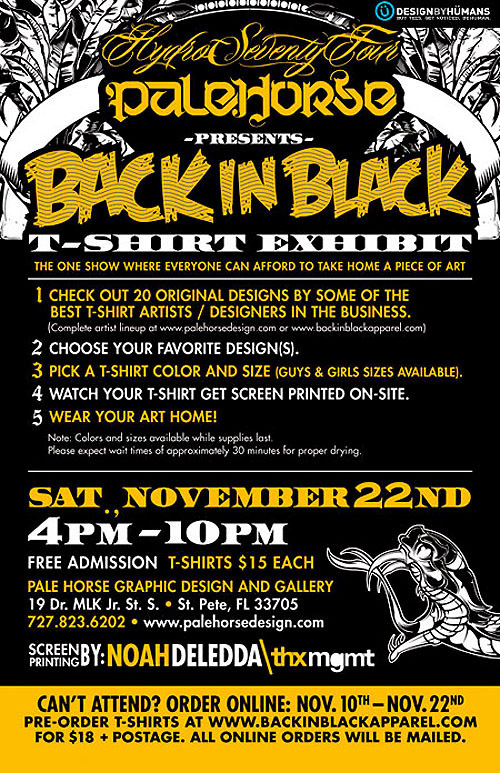 """""""Back in Black"""" T-shirt Exhibition"""
