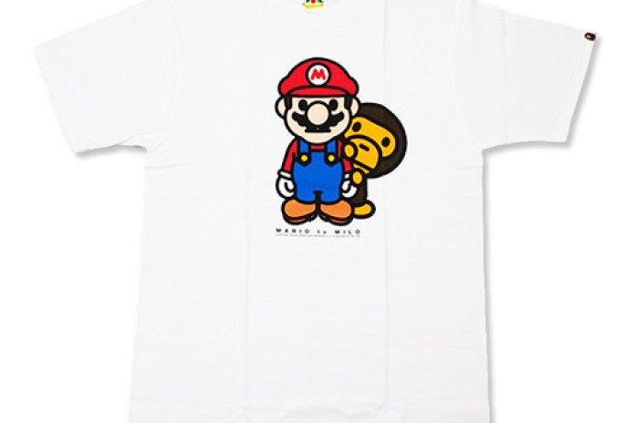 "A Bathing Ape Nigo's Favorite Shop ""Mario to Milo"" Tees"