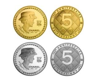 Coco Chanel 125th Anniversary Coin Set
